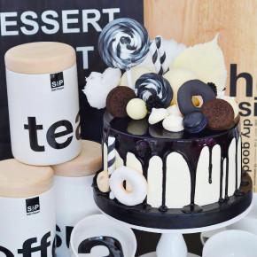 №203 Торт черно-белый