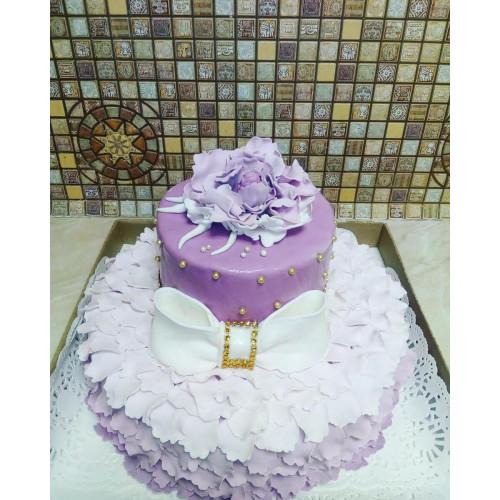 №418 Торт с бантиком на свадьбу