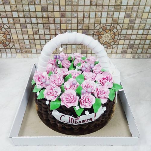 №434 Торт с цветами из мастики