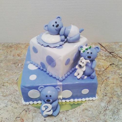 №438 Торт детский на 2 года