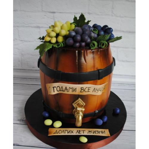 №460 Торт в виде бочки вина