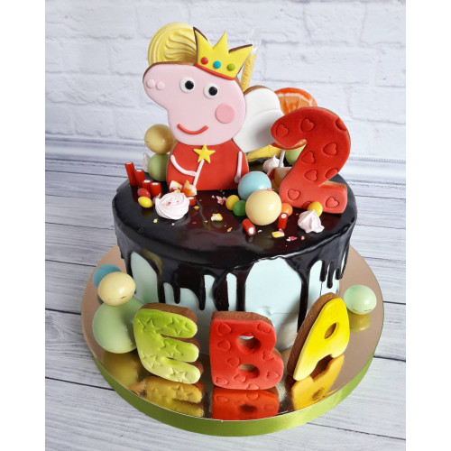 №480 Торт Свинка Пеппа 2 года