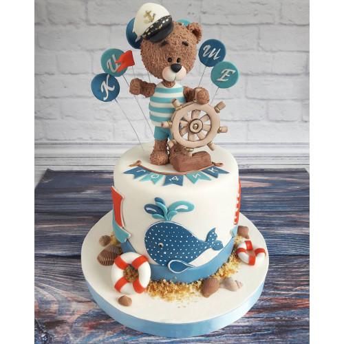 №482 Торт мишка моряк