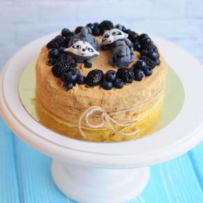 №55 Торт с енотами